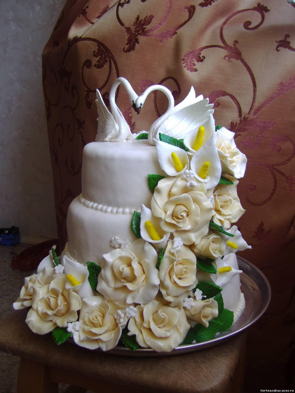 Лебеди из крема. Украшение торта Тонины тортики 36