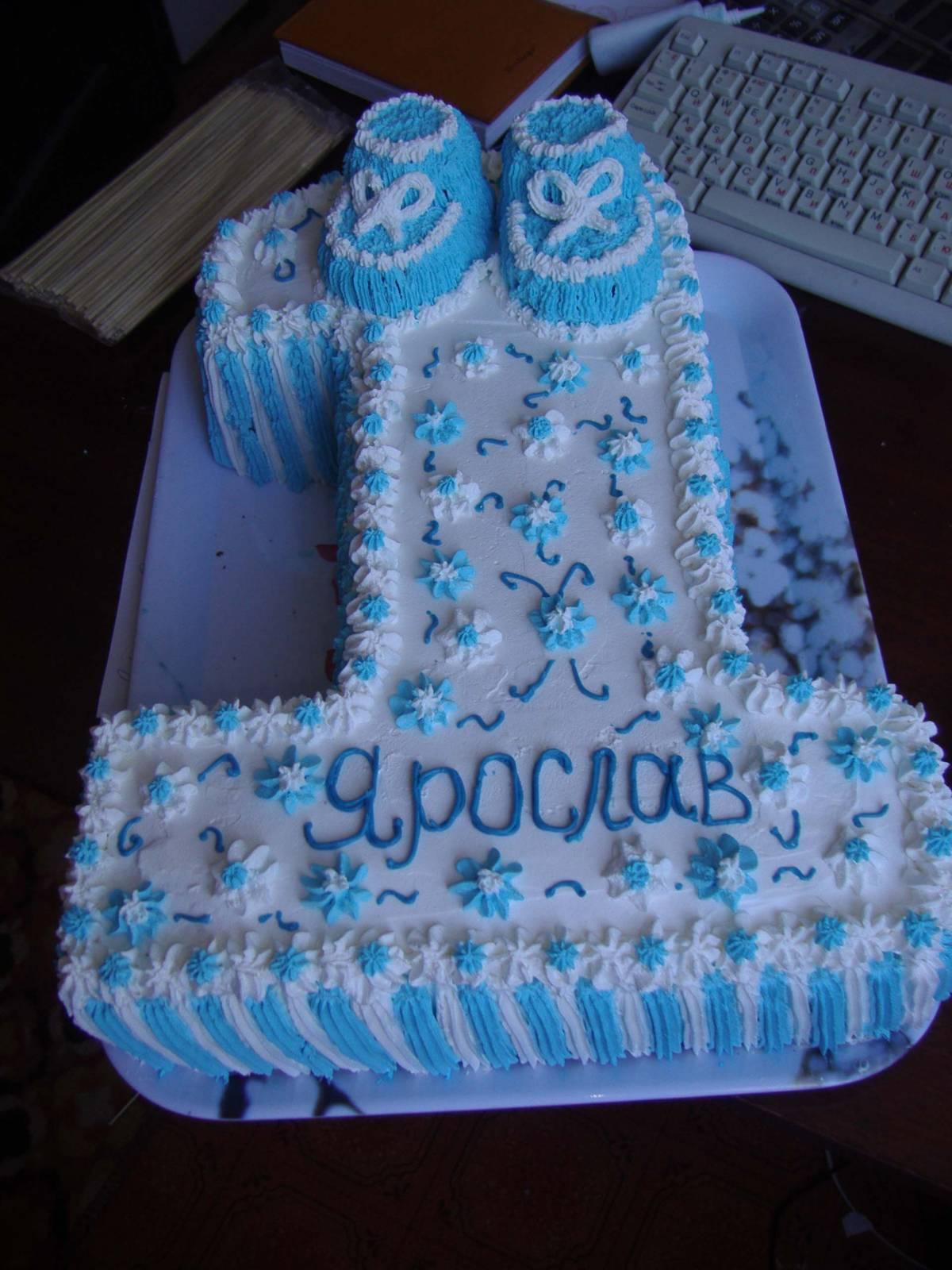Торт на годик мальчику фото в домашних условиях