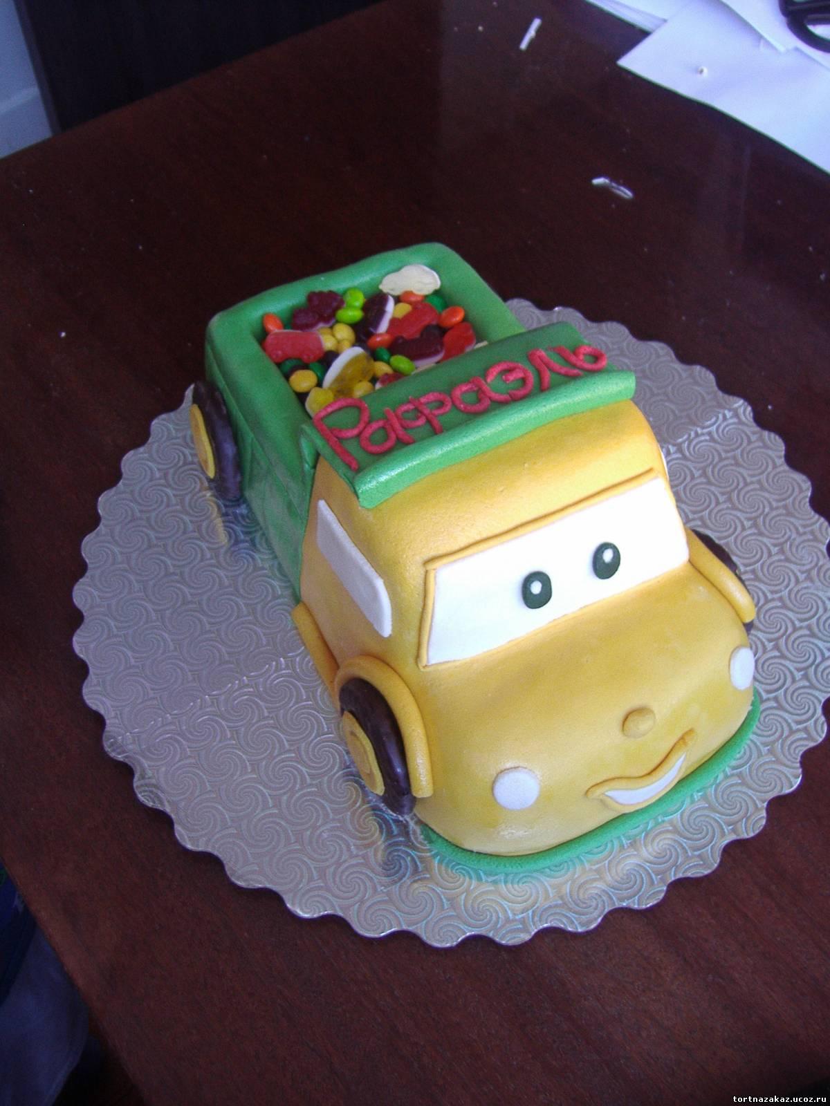 Торт с камазом мальчику фото своими руками